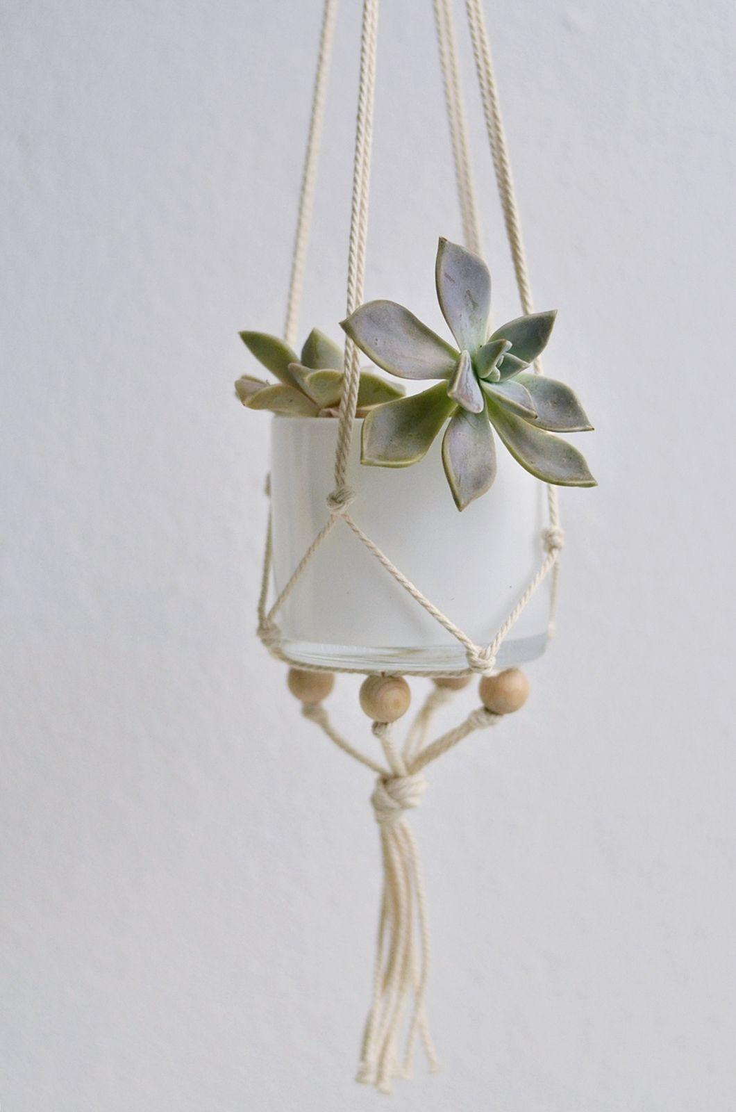 nachmachtipp makramee h ngeampel diy hanging planter planters and plants. Black Bedroom Furniture Sets. Home Design Ideas
