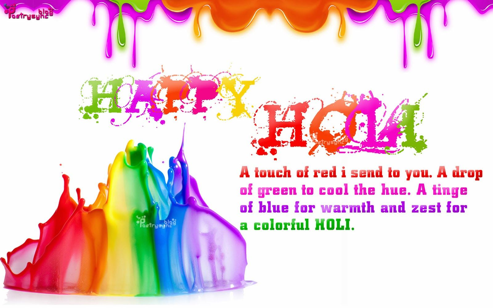 Happy Holi Shayari Sms With Holi Wishes Wallpapers With Quotes