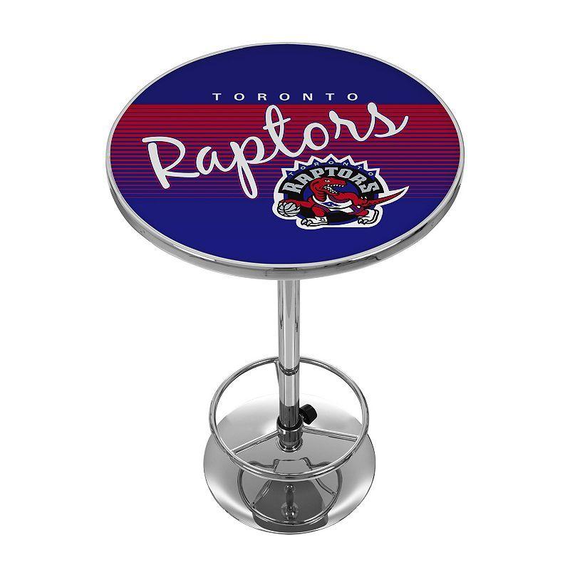 Toronto Raptors Hardwood Classics Chrome Pub Table, Multicolor