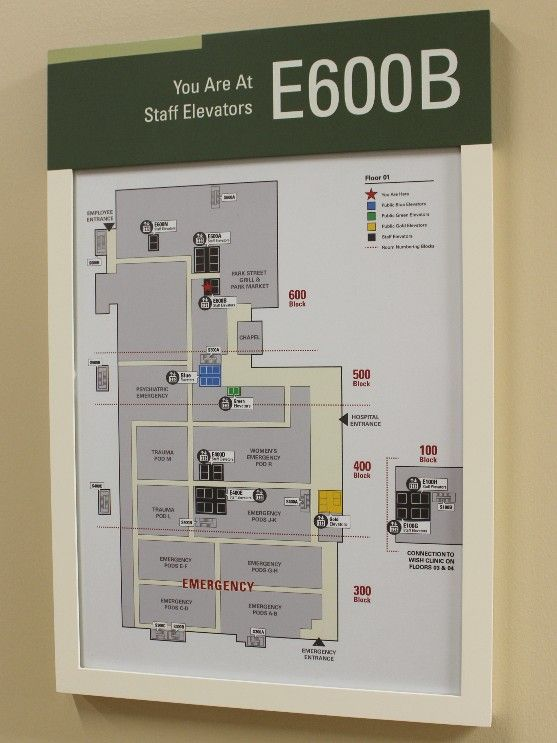 Hospital Interior Wayfinding Map And Evacuation Plan Design By