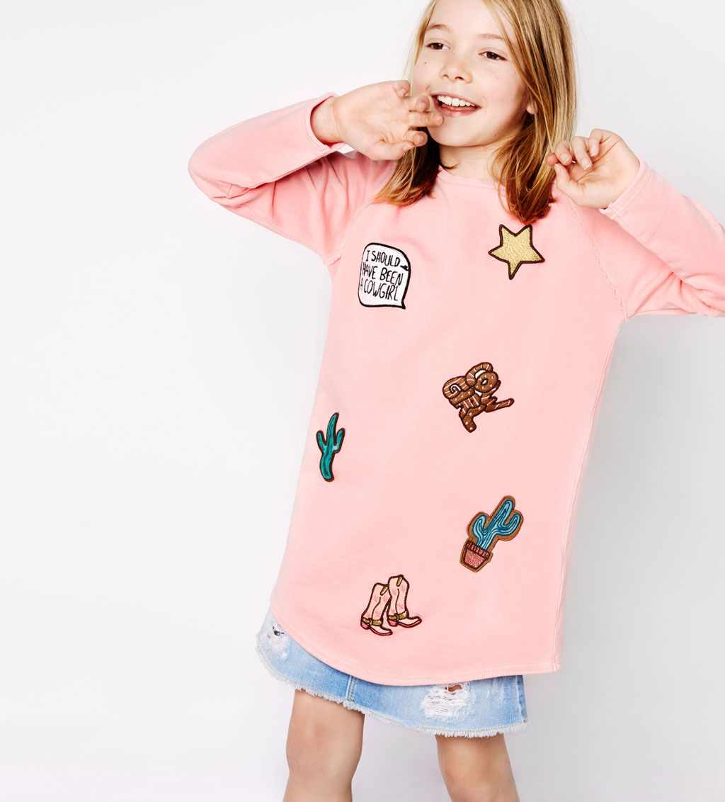 960f2b7ec3b Patch dress-DRESSES AND JUMPSUITS-GIRL | 4-14 years-KIDS | ZARA United  States