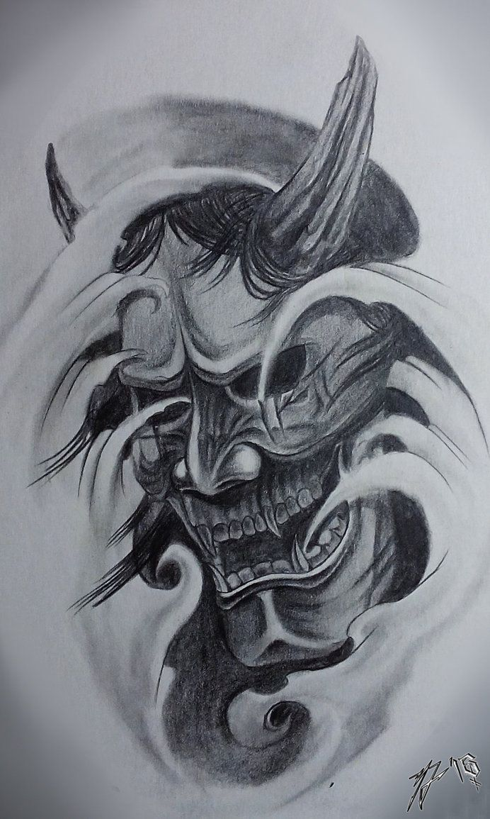 Hannya mask - traditional classic by JackCoffins