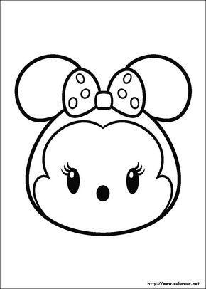 Dibujo De Para Imprimir Tsum Tsum Tsum Tsum Para Colorear