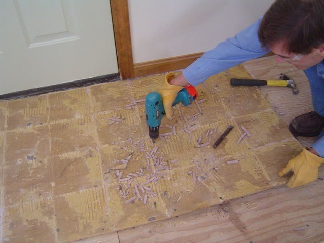 How To Remove Ceramic Tile Flooring And Backerboard Screwed Down To