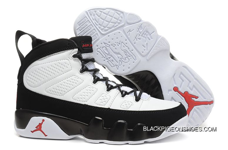 best website 1faff 96afd Air Jordan 9 Retro White Black-True Red Latest