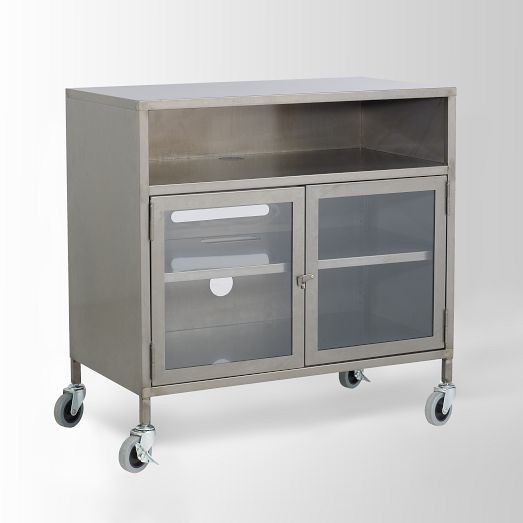 Industrial Metal TV Cart   West Elm...30--16--31h...399