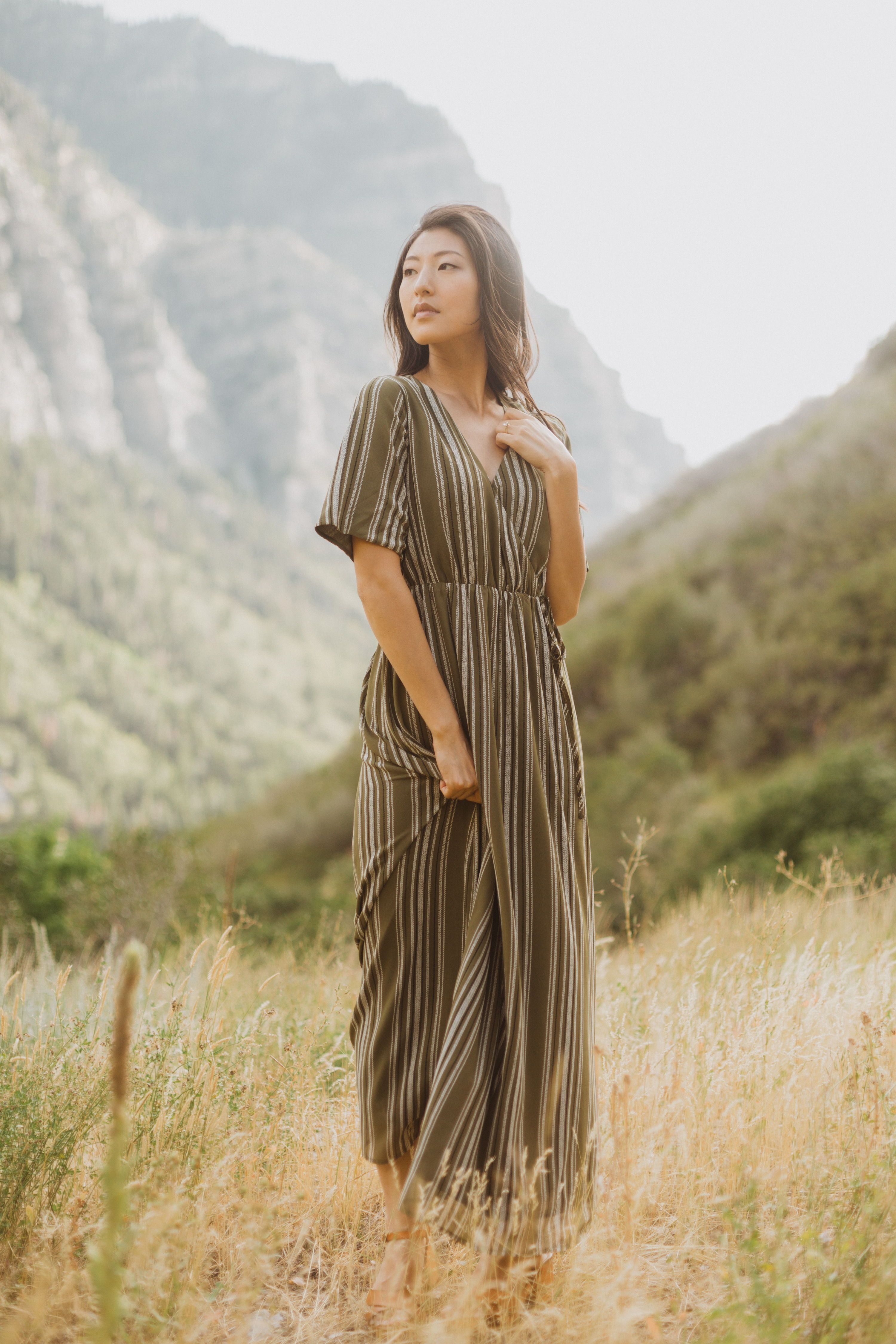 The Larsen Striped Maxi Dress Features A Flattering Silhouette In A Fantastic Green Color That S Finished Off With Striped Maxi Dresses Striped Maxi Maxi Dress [ 4500 x 3000 Pixel ]
