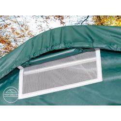 Photo of Tent garage 3.3×8.4m – incl. Statics, Pvc 550 g / m², dark green garage tent Toolport