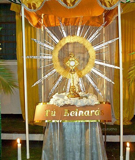 Catholic Wedding Altar Decorations: Resultado De Imagen Para Altares Para Corpus Christi