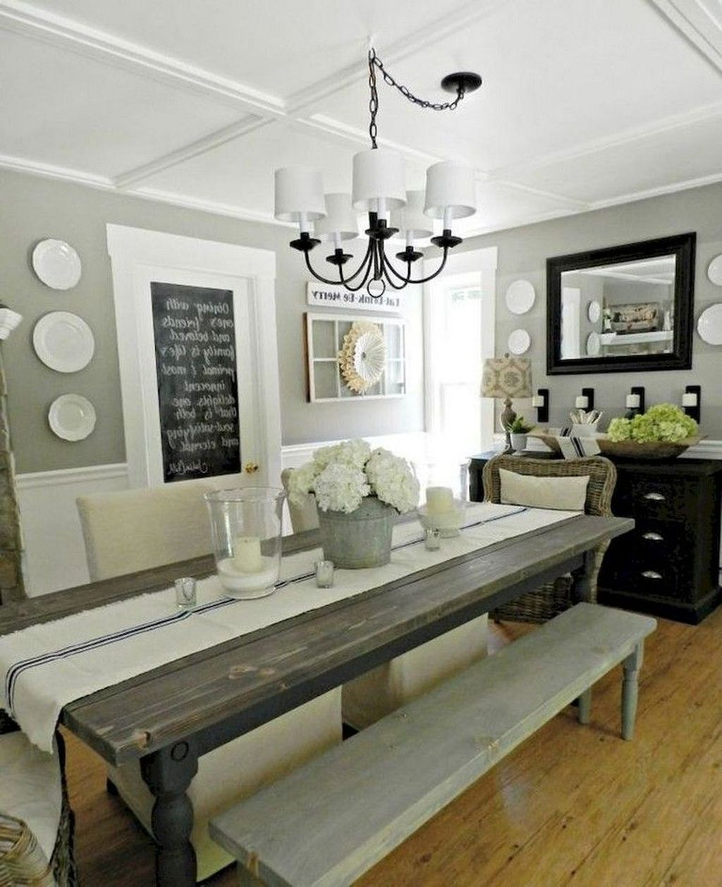 50 Stunning Fall Farmhouse Dining Room Decor Ideas images