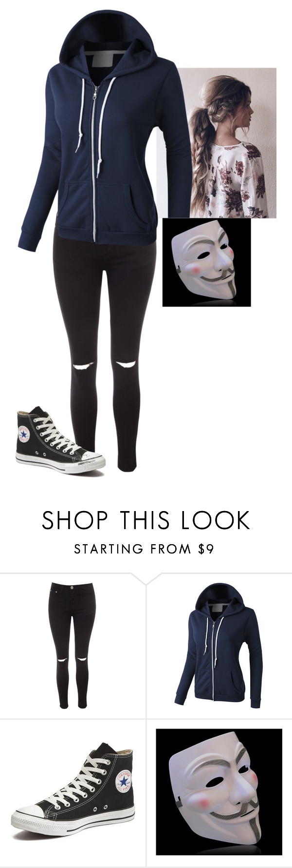 """""""Untitled #131"""" by mayaforever3 ❤ liked on Polyvore featuring Glamorous, LE3NO and Converse"""