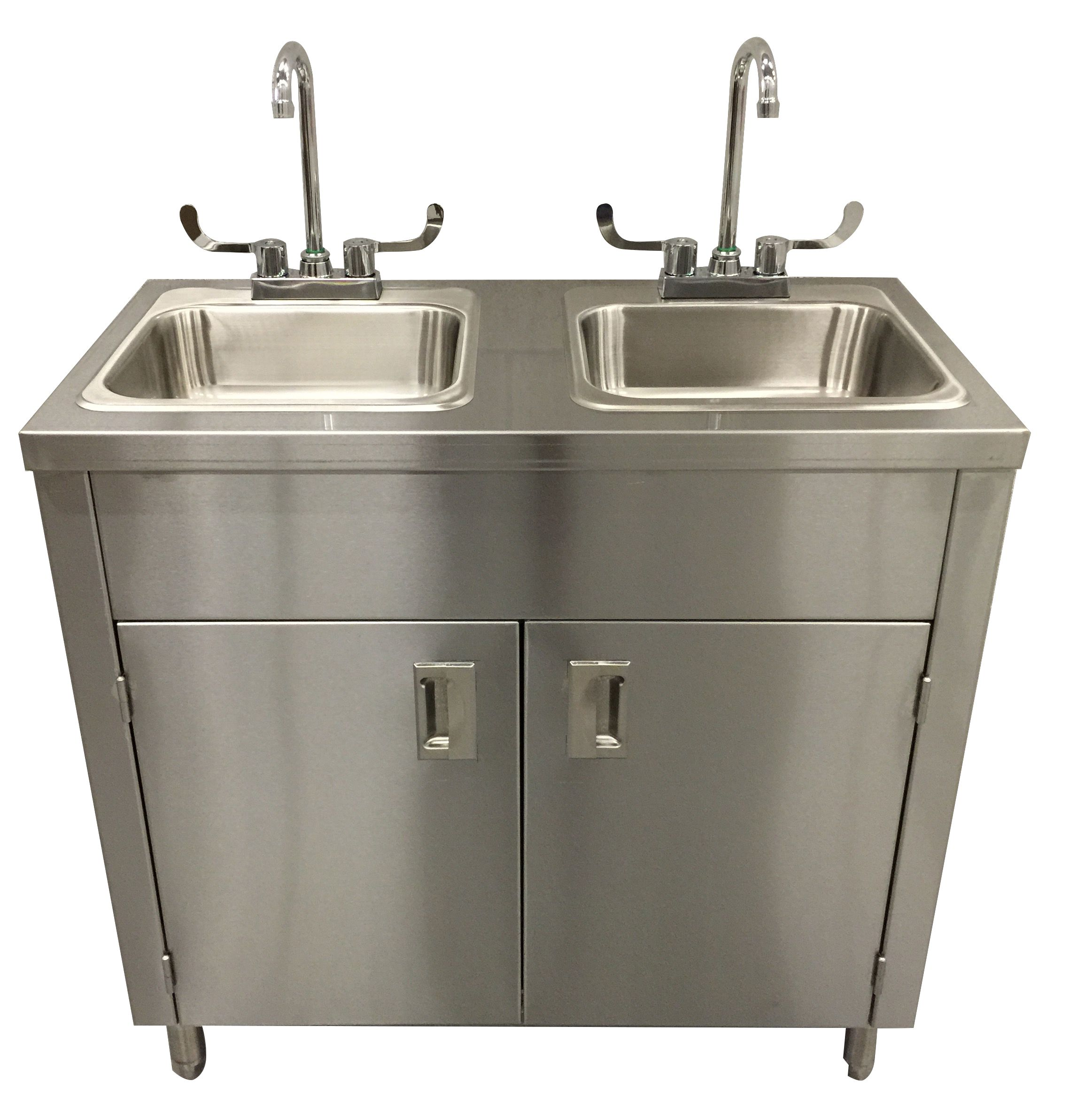2 Compartment Portable Stainless Steel Sink In 2020 Portable Sink Sink Stainless Steel Sinks