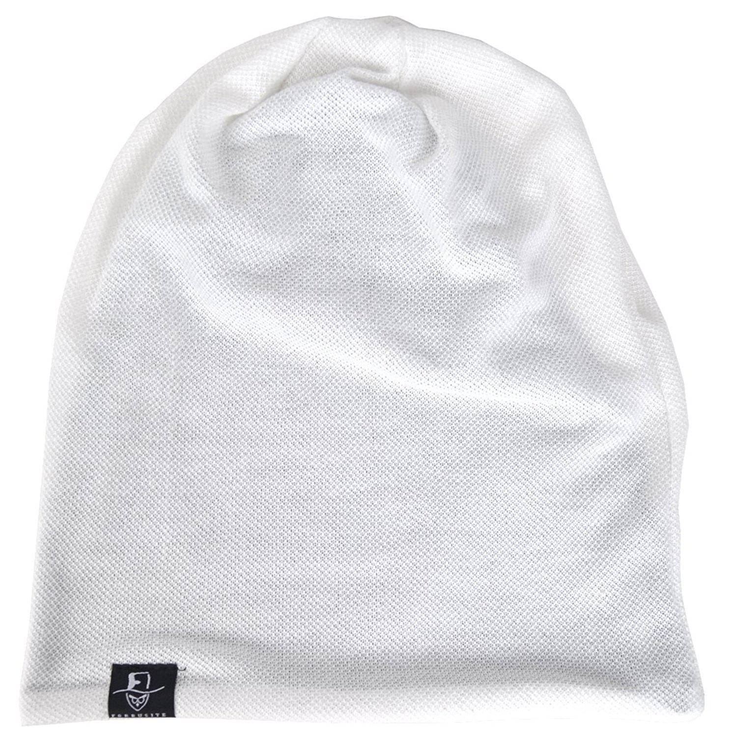 44662654e8a36 Men Slouch Beanie Baggy Slouchy skullcap Knit Hat - White - CQ1832O5DH8 -  Hats   Caps