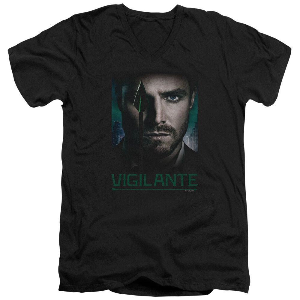 Arrow/Good Eye Short Sleeve Adult T-Shirt V-Neck 30/1 in