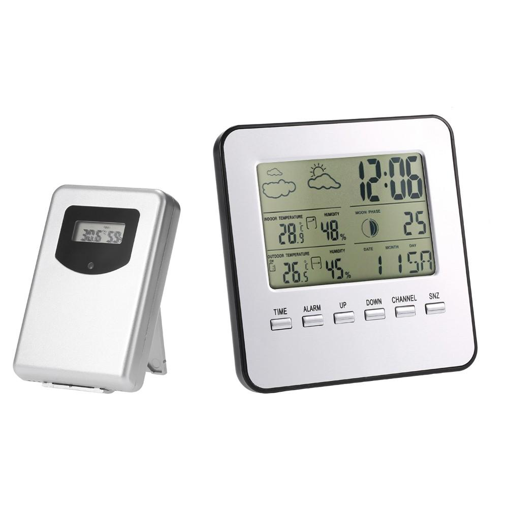 Digital LCD Outdoor Weather Station Clock Calendar Thermometer  1@c