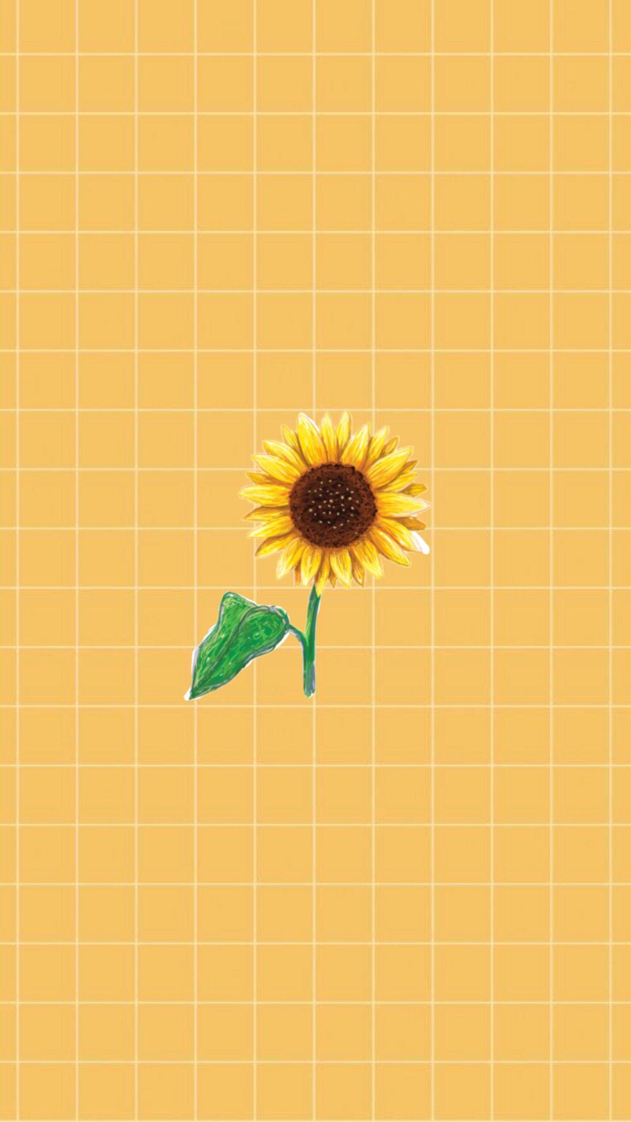 Tumblr wallpaper Yellow Sunflower | Wallpaper | Sunflower wallpaper, Grid wallpaper, Iphone ...