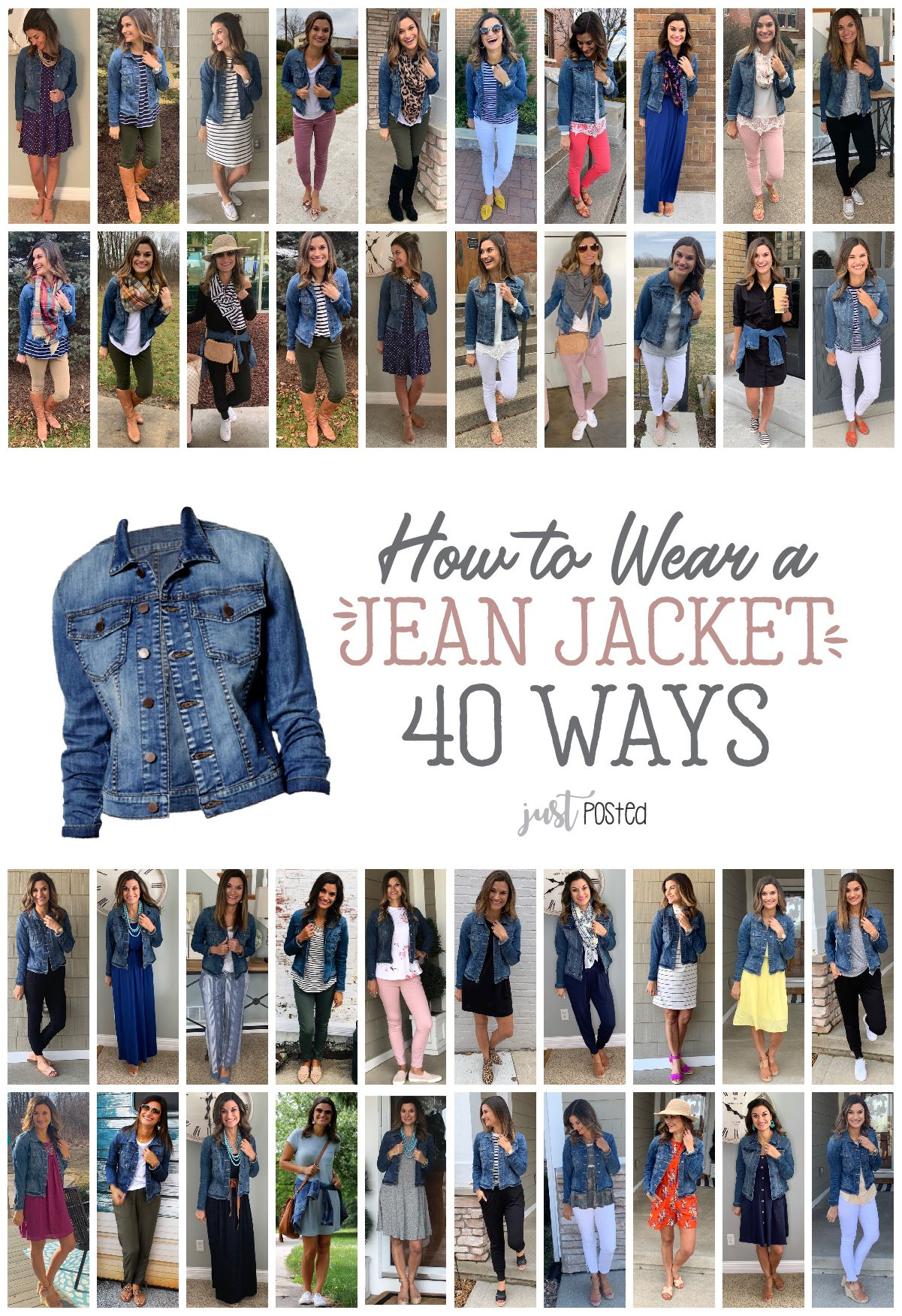 How to Wear a Jean Jacket 40 Ways! #howtowear