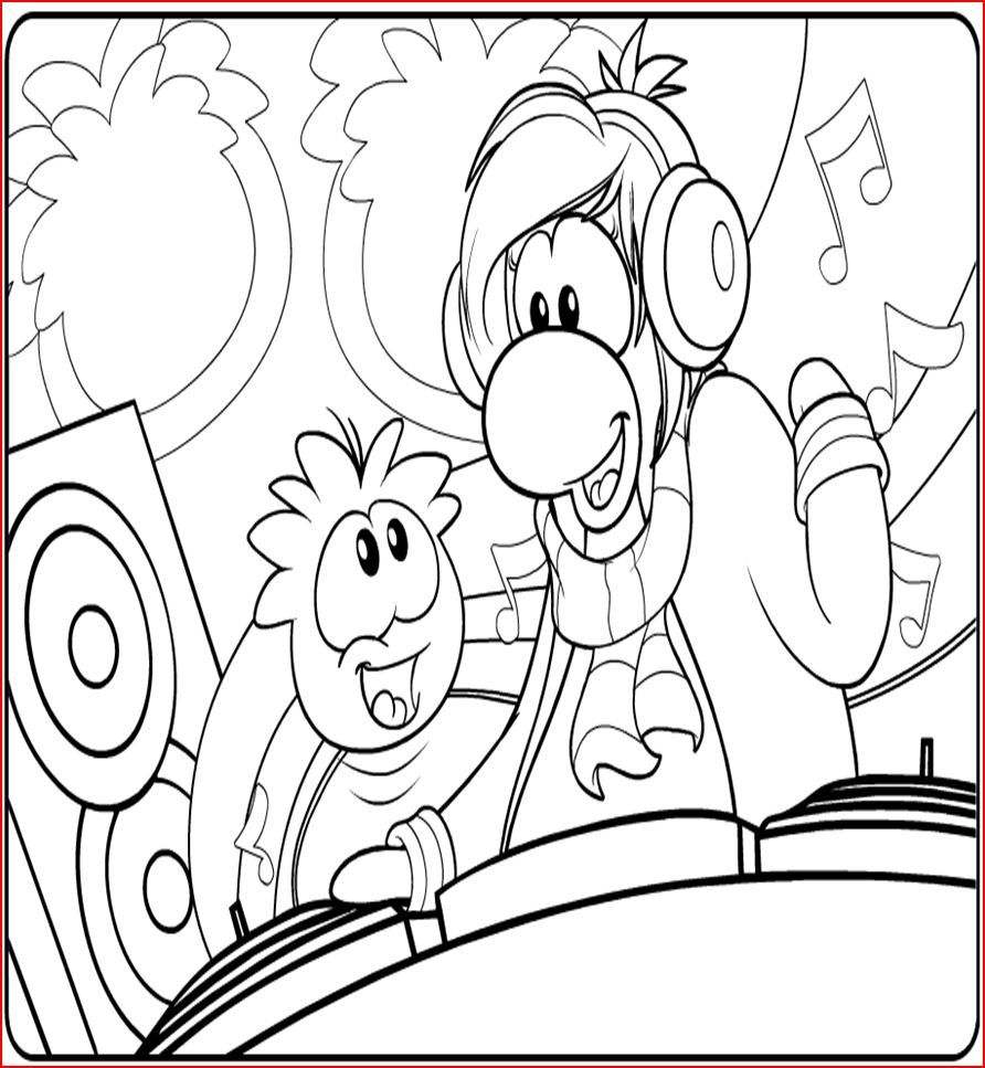 club penguin coloring pages ninja