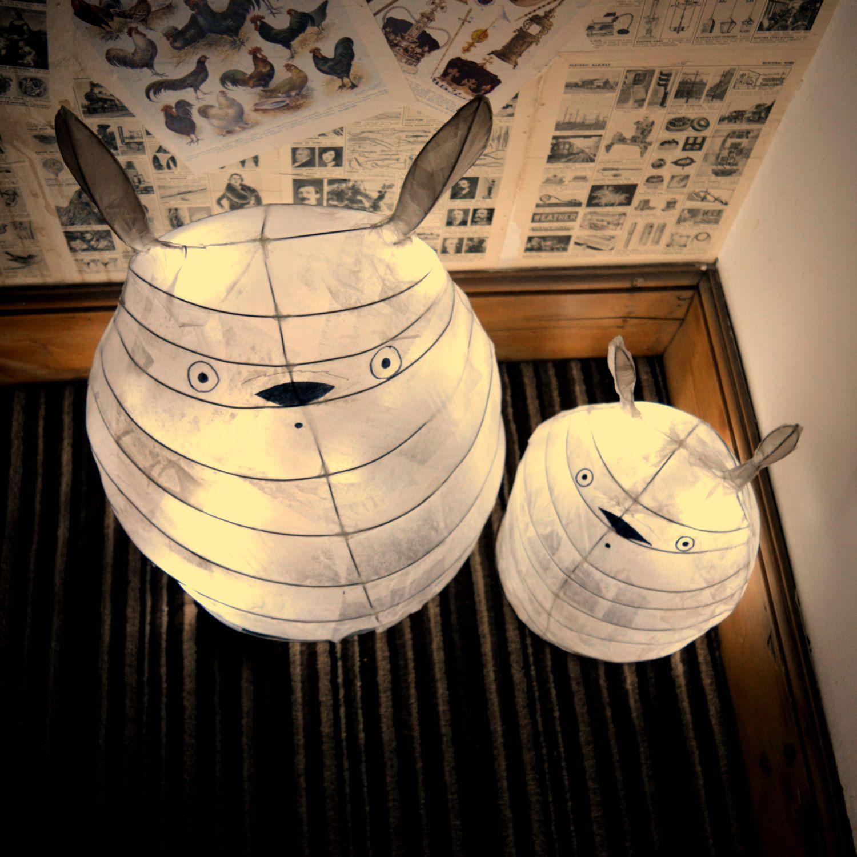 2 Totoro Lamp set - Studio Ghibli - Chibi - My Neighbour Totoro ...