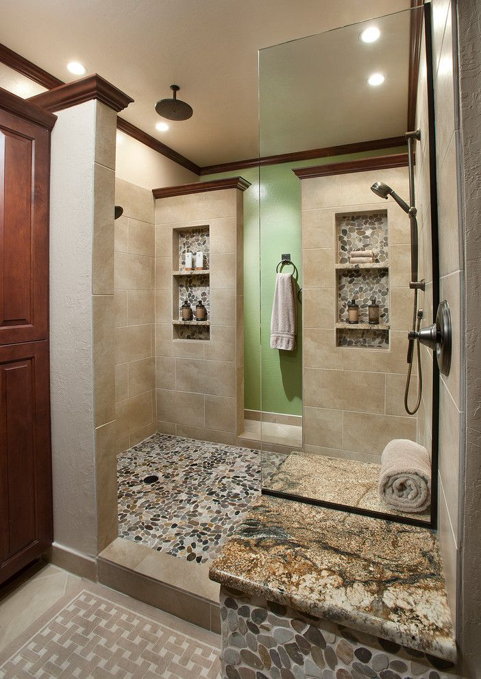 Shower Niche Ideas Bathroom Traditional With 12 X 24 Field