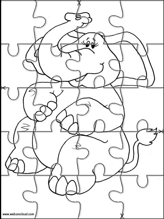 Printable jigsaw puzzles to cut out for kids Animals 150 Coloring Pages