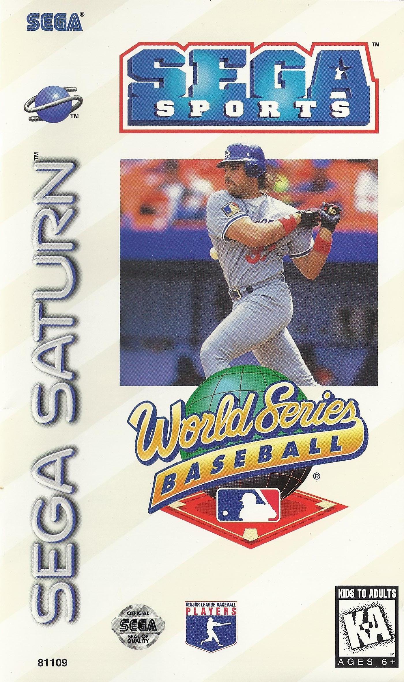 World Series Baseball USA Sega Saturn Art Box