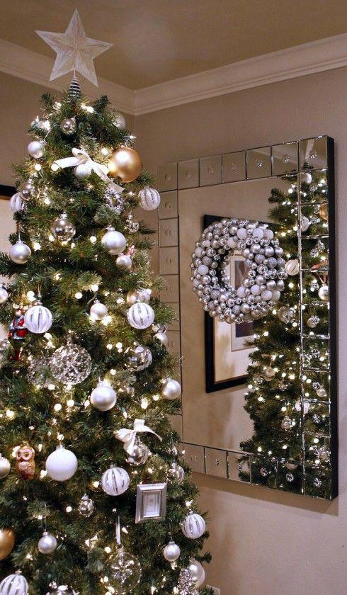Christmas Decor Color Schemes Silver Ornaments