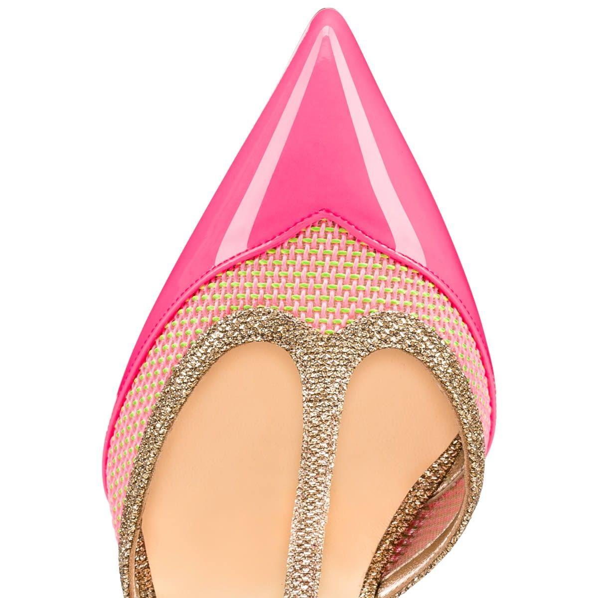 Chaussures femme - Mrs Earl Vernis/raphia Fluo - Christian Louboutin