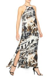 Anderson Tank Maxi - Tank style maxi with a gentle A-line hem, halter top, racer back with a 3 button back closure.