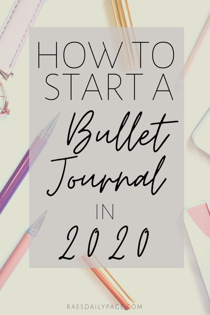Start a Bullet Journal in 2020 #newyearsresolutionbulletjournal