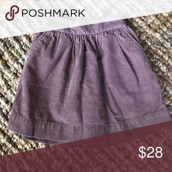 Crewcuts Skirt Adorable light purple Corduroy skirt J. Crew Bottoms Skirts