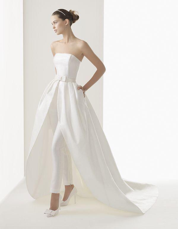 Rosa Clara Cloe Jumpsuit Wedding Dresses Unique Wedding Gown