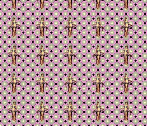 Bloomin Bizarre Nude fabric - lovekittypink - Spoonflower