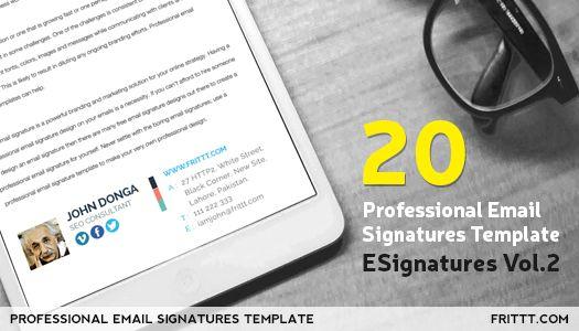best professional email signatures template esignatures vol 2