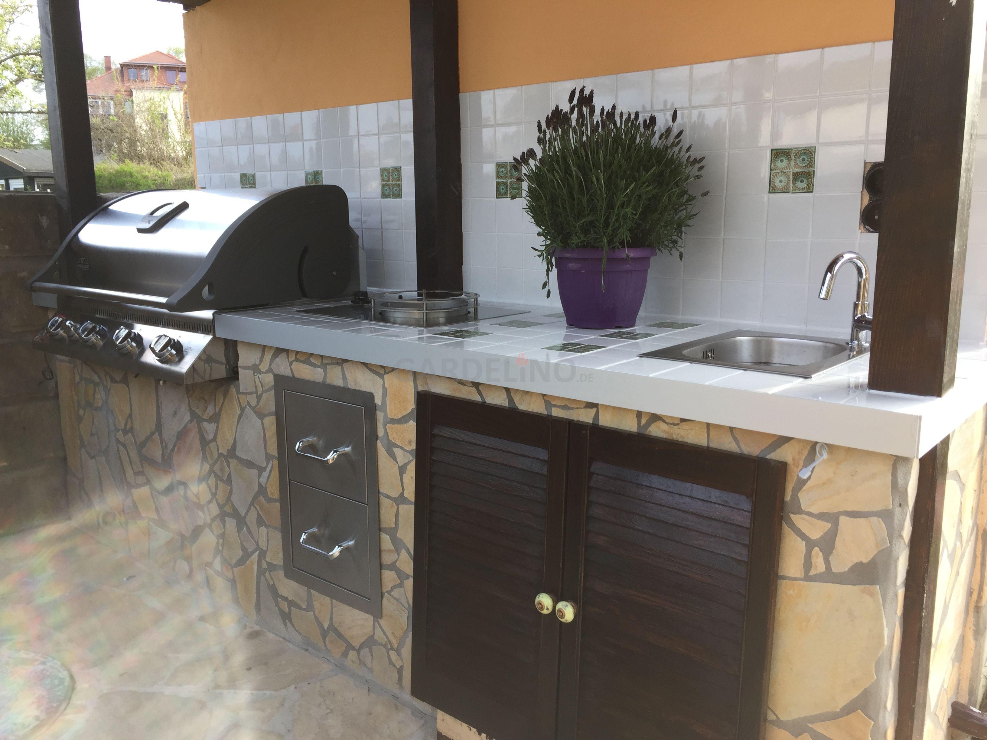 Outdoorküche Napoleon Bbq : Idee: selbstgebaute outdoorküche mit napoleon gasgrill und wok