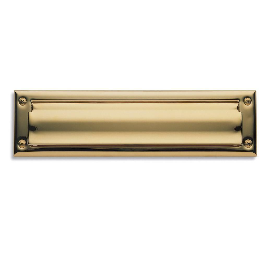 0014 Letter Box Plate Lifetime Polished Brass Letter Boxes