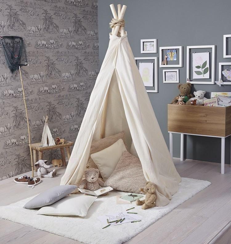 kinder tipi zelt auf einem teppich | ideen kinderzimmer, Schlafzimmer design