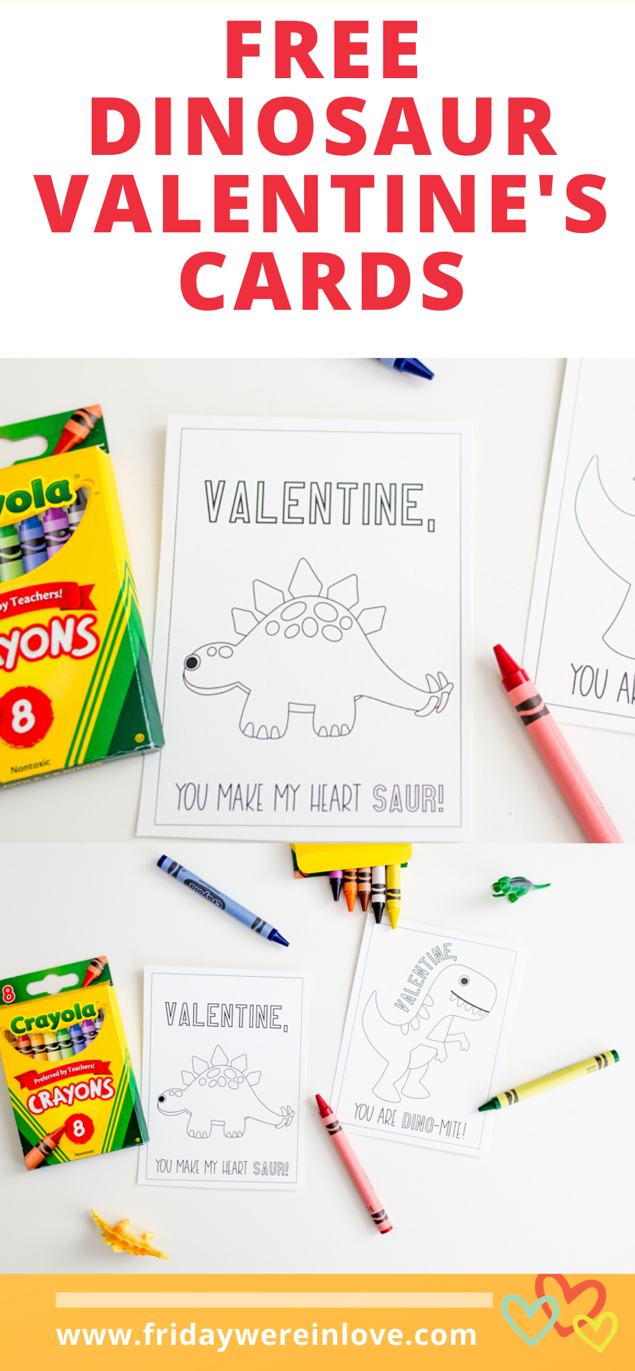 Free Dinosaur Valentines Day Cards Dinosaur Valentines Day Cards free download A great alternative to candy gift a Valentine card they can color with a few crayons This f...