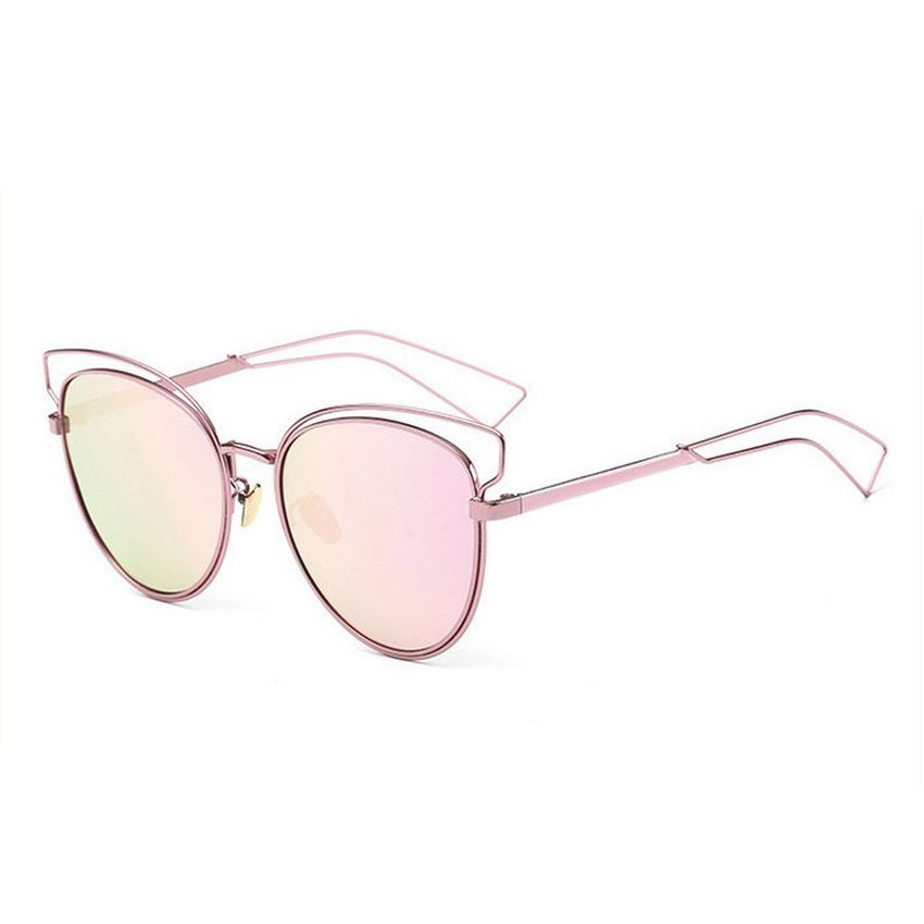 bc86b2ad4432 Women Polarized Aviator Sunglasses Oculos Gold Silver frame Glasses UV400  Shades Cat eye Sunglass Female Eyewear (Pink) | Lazada Singapore