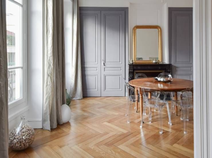 rnovation dun appartement haussmannien lyon 06 salle manger de style de