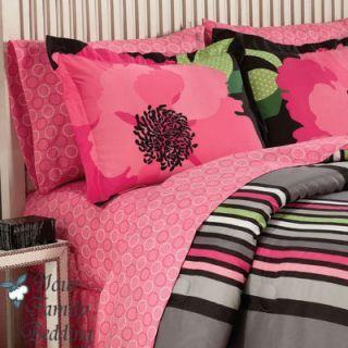 Beautiful Kids Bedroom For Twin Girls Pink Sets Black Flower Girl Kid Comforter Bed In Inside Inspiration