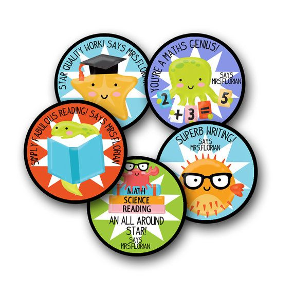 School of fish personalized stickers for by ohsostationery on etsy 13 00