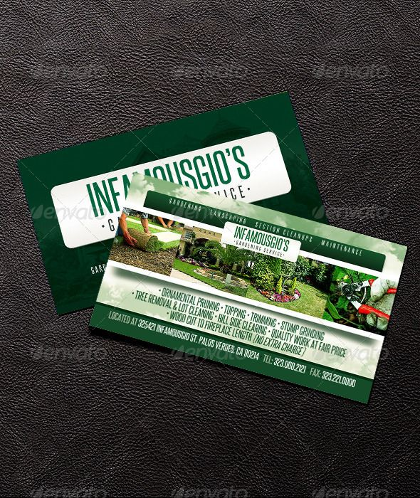 Gardening business card 4 business cards business and print templates gardening business card 4 photoshop psd professional service available here https accmission Image collections