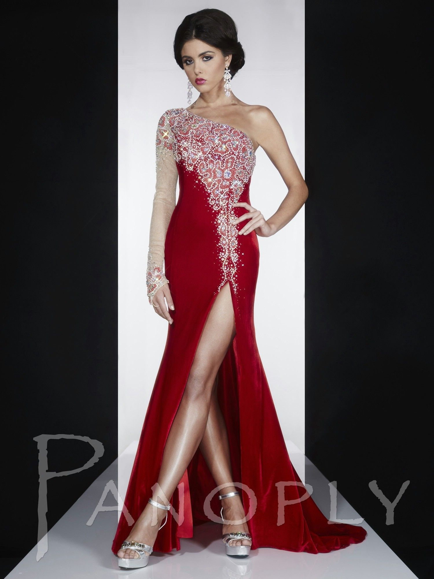 Panoply style v jersey velvet pageant dresses