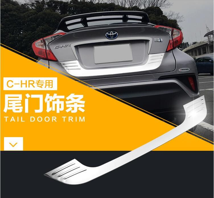 1pcs Car Tail Door Trunk Molding Lid Cover Trims For Toyota C Hr Chr 2016 2017 2018 Free Shipping Toyota C Hr Car Replacement Parts