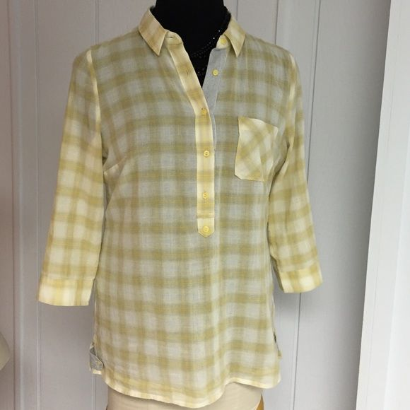 Tunic Top NWOT Summer perfect Tunic w/jeans or leggings 100cotton front buttons 3/4sleeves w/roll-ups side vents 27ins long. a.n.a Tops Tunics