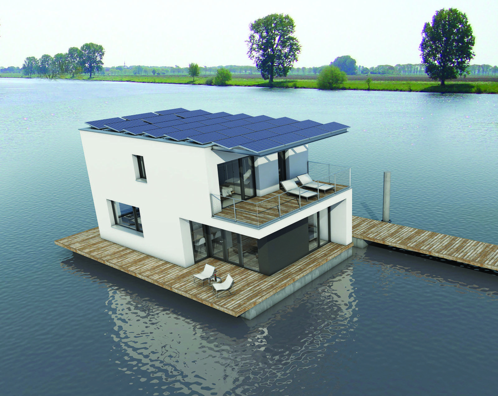 Floating Home Manufacturers Autarkhome Is The First Energy Neutral And Self Sufficiant Home In