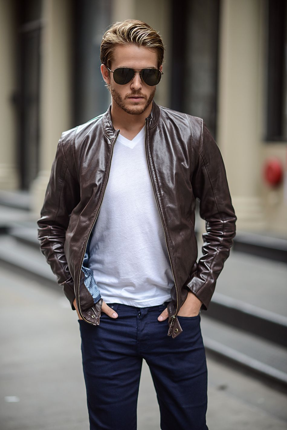 259f366aa3 MERCER Ted Baker Leather Jacket, First Date Outfit Casual, Adam Gallagher,  Ted Baker