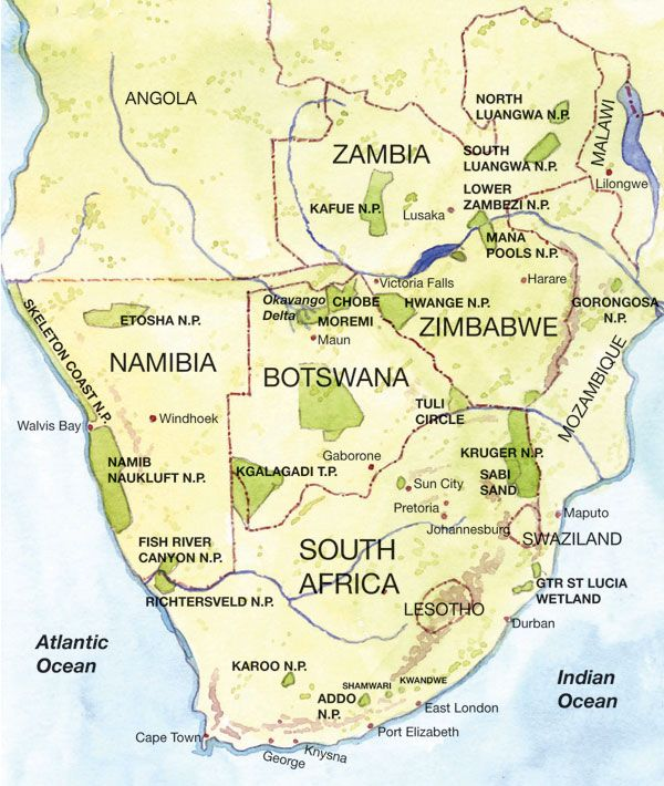 map of southern Africa | Southern Africa Map Pictures | Maps of