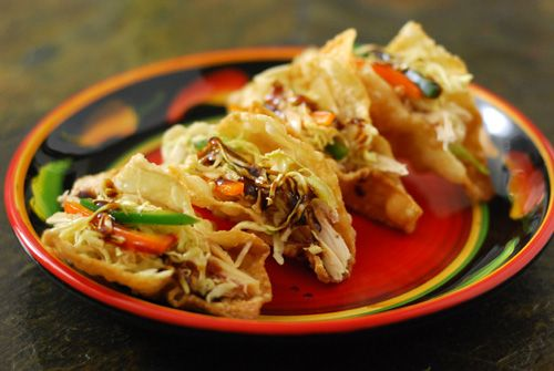 Asian Mini Tacos inspired by the No Boundaries trend from our friend Chris from Nibble Me This